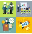 Business Concept Investment Advice Meetings vector image vector image
