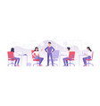 business team working in modern office vector image