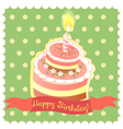 Cake on the green background vector image vector image