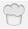 chef hat icon in cartoon style vector image