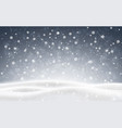 christmas background of falling snow winter night vector image