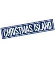 christmas island blue square stamp vector image