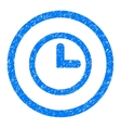 Clock Rounded Icon Rubber Stamp vector image vector image