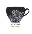coffee cup organic 2 vector image vector image