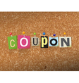 Coupon Concept vector image vector image