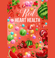 detox color diet poster with red day vitamin food vector image vector image