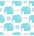Elephan seamless pattern vector image vector image