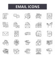 email line icons for web and mobile design vector image vector image