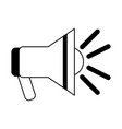 emergency bullhorn symbol black and white vector image