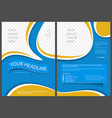 flyer template in elegant abstract style vector image