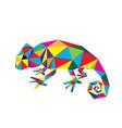 geometric chameleon vector image vector image