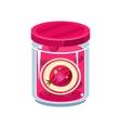 Gooseberry Jam In Transparent Jar vector image