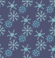 Hand drawn snowflakes Seamless winter texture vector image vector image