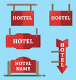 hotel signboard icons setflat style vector image vector image