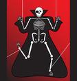 Human Skeleton halloween vector image vector image