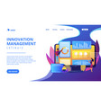 innovation management software concept landing vector image vector image