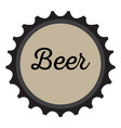 Isolated beer bottle cap vector image