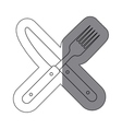 Isolated cutlery design vector image