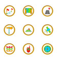 map icons set cartoon style vector image vector image