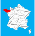 map state brittany location on france vector image vector image