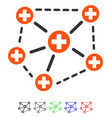 medical network structure flat icon vector image
