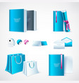 mockup template for branding and product designs vector image