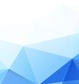 Modern blue polygon background vector image vector image