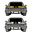 muscle car classic front side look vector image vector image