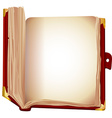 old book brown cover vector image vector image