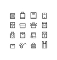 package and bags icons set vector image vector image