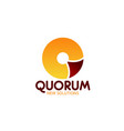 quorum icon for business meating theme design vector image vector image