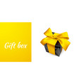 realistic gift box with yellow bow isolated on vector image vector image