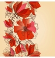 Red flowers seamless pattern in retro style vector image vector image
