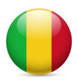 Round glossy icon of mali vector image vector image
