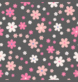 seamless cute floral pattern background vector image vector image