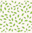 seamless floral pattern with small green vector image