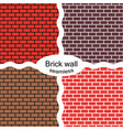seamless patterns of red brown brick walls vector image