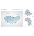set ethiopia country isometric 3d map ethiopia vector image vector image