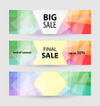 set horizontal banners with empty place for text vector image vector image