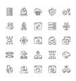 set web hosting doodles vector image vector image