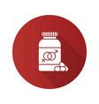 sex pills for men and women flat design long vector image vector image