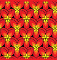 simply red flowers pattern vector image