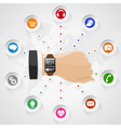 Smart Watch with Applications vector image vector image