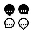 speech balloon icons vector image