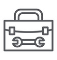 tool box line icon repair and maintenance tool vector image vector image