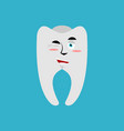 tooth winks emoji teeth emotion cheerful isolated vector image