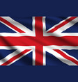 united kingdom flag realistic waving union jack vector image