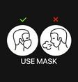 use mask banner coronavirus protection campaign vector image