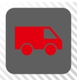 Van Rounded Square Button vector image vector image