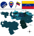 Venezuela map with named divisions vector image vector image